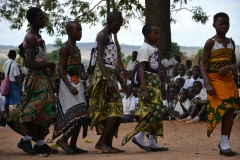 Traditional dancing at Mugango Primary 5
